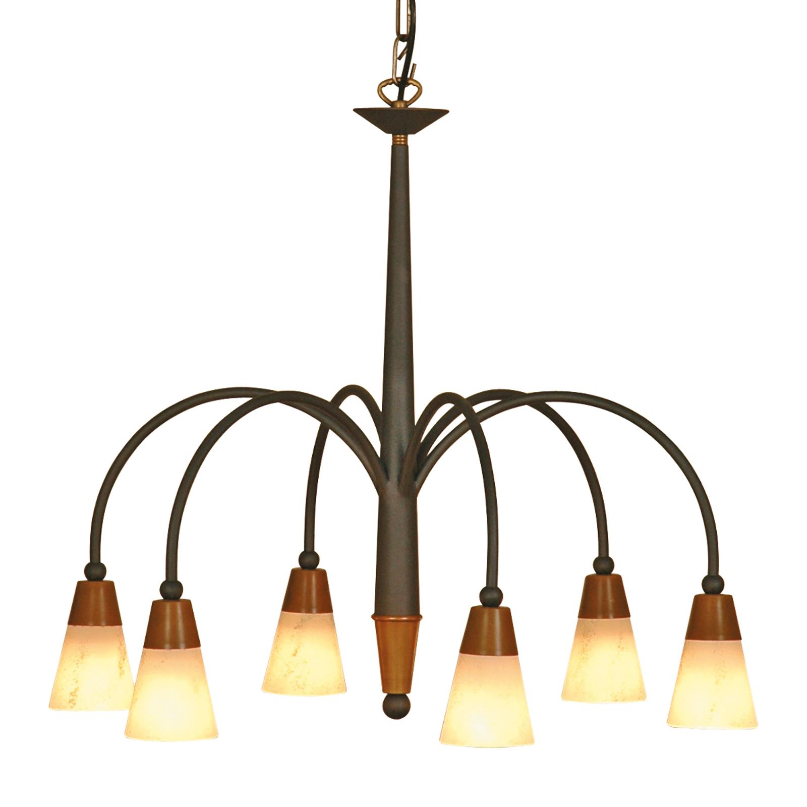 Kroonvormige hanglamp STELLA, 6-lichts
