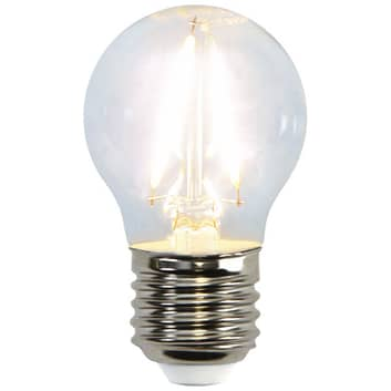 LED-miniglobuslampe E27 G45 2W 2700K filament