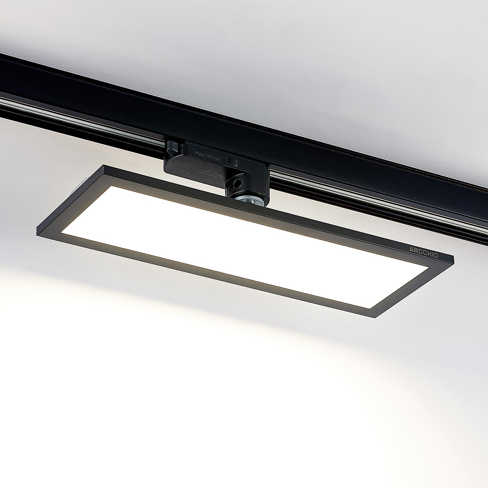 Arcchio Hairis 3-Phasen-LED-Panel schwarz 4000 K