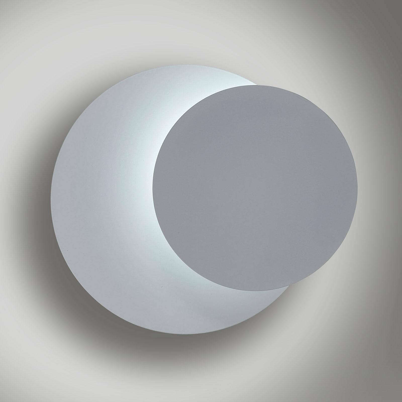 Wandleuchte Circle in runder Form, weiß