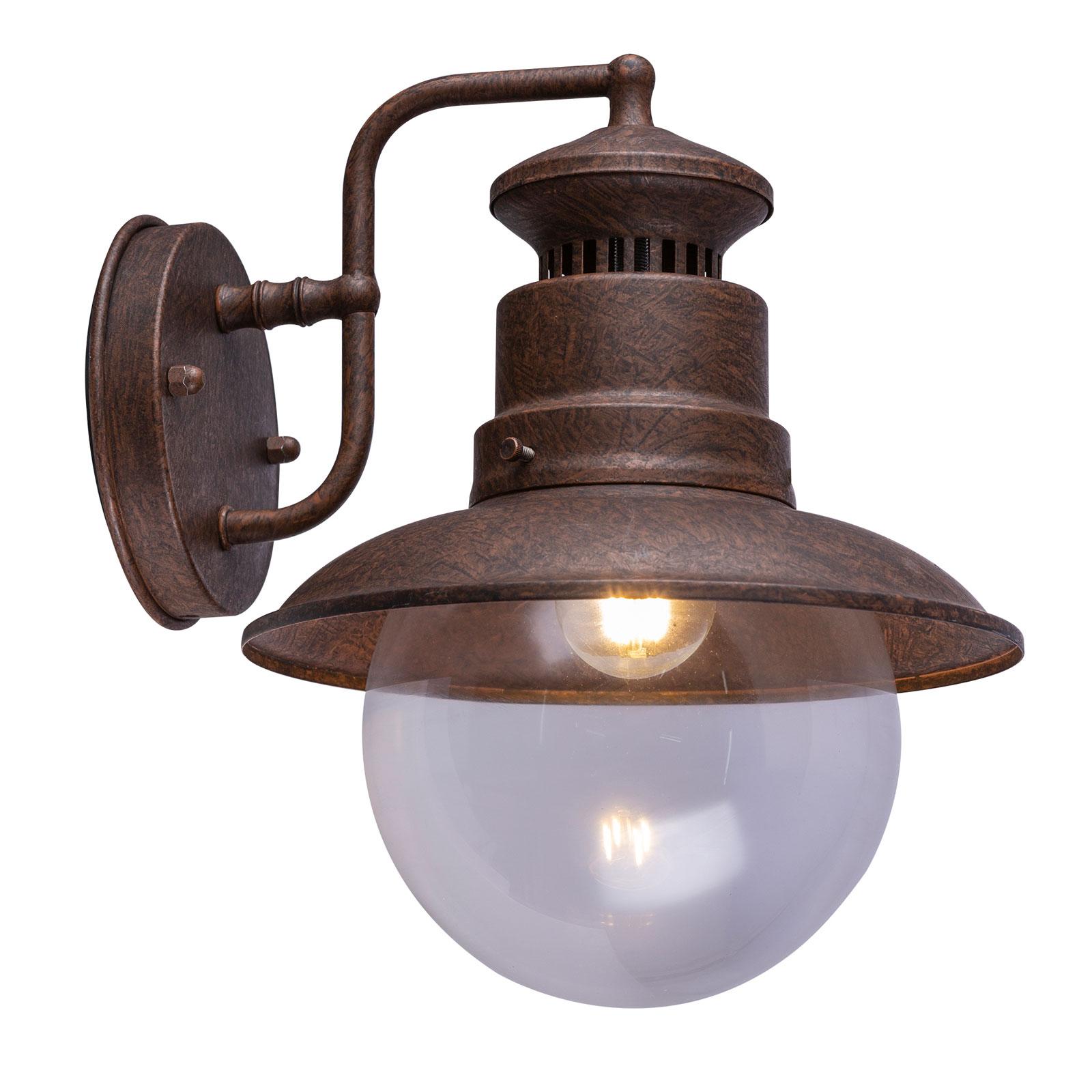 Buitenwandlamp Sella van roestkleurige staal