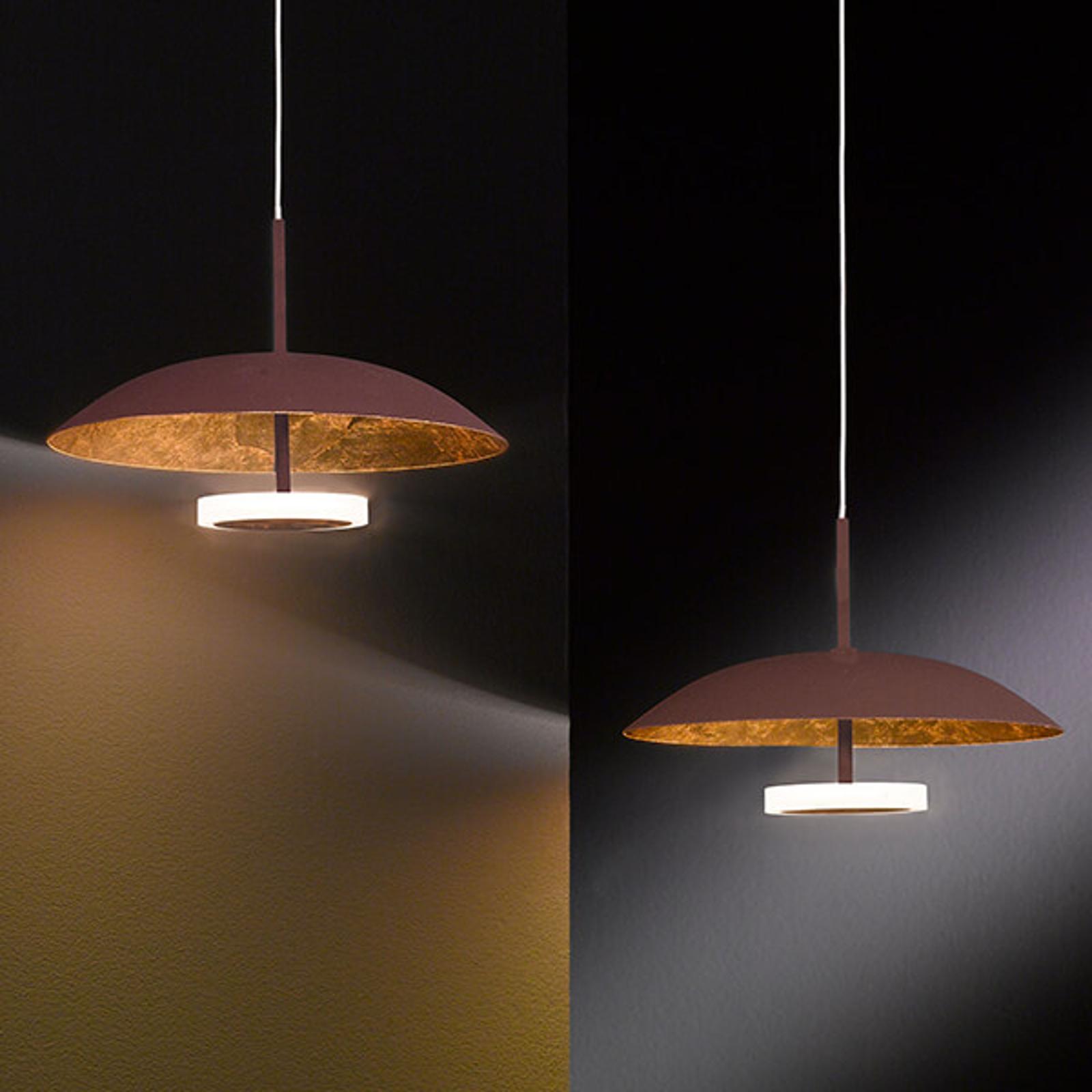 Pierre - złoto-brązowa lampa wisząca LED, 2-pkt.