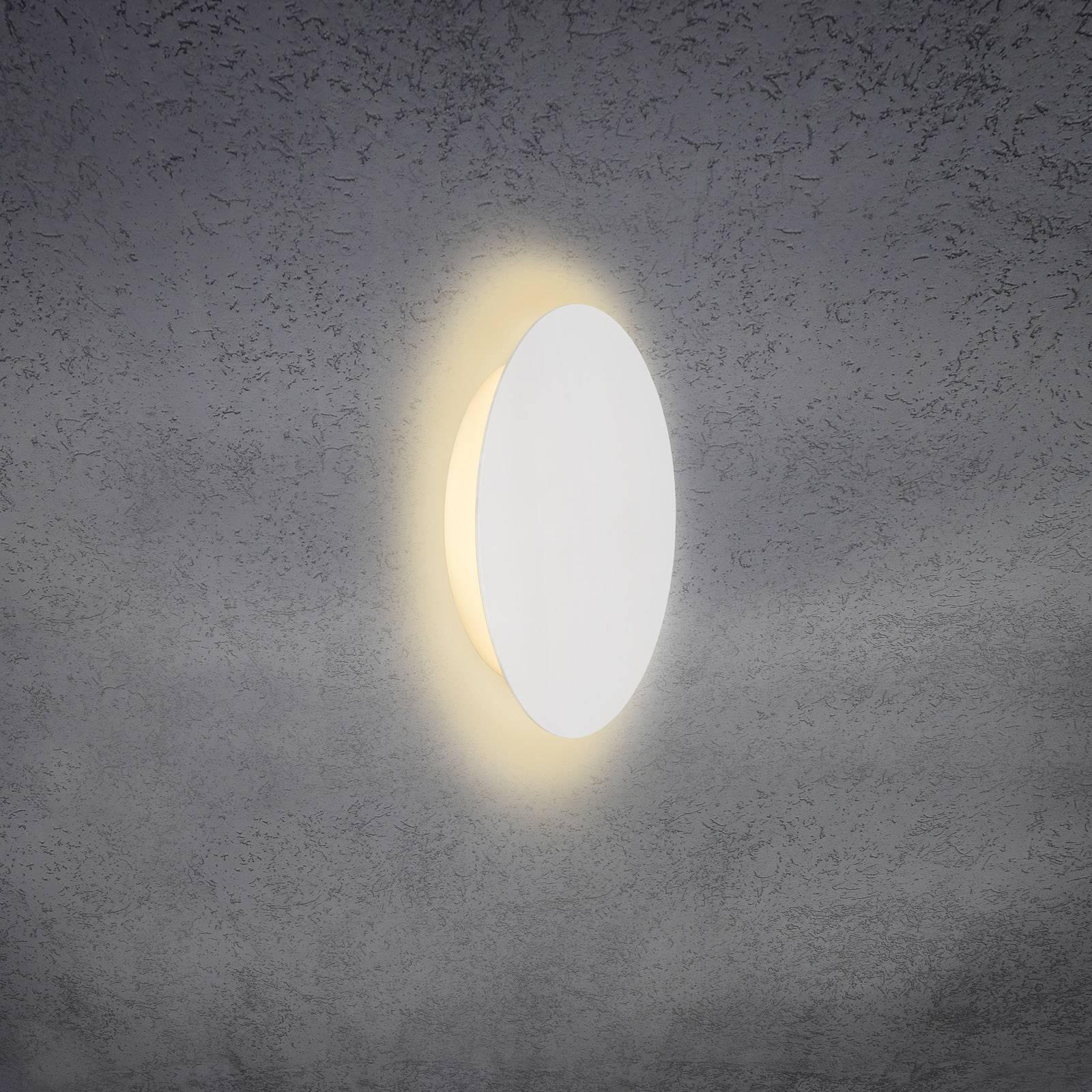 Escale Blade LED-Wandleuchte, weiß matt, Ø 24 cm