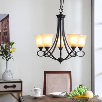 Rustik lampkrona Trisha