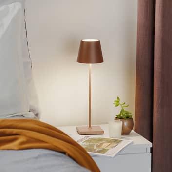Poldina-LED-pöytälamppu, akku, mattapinta