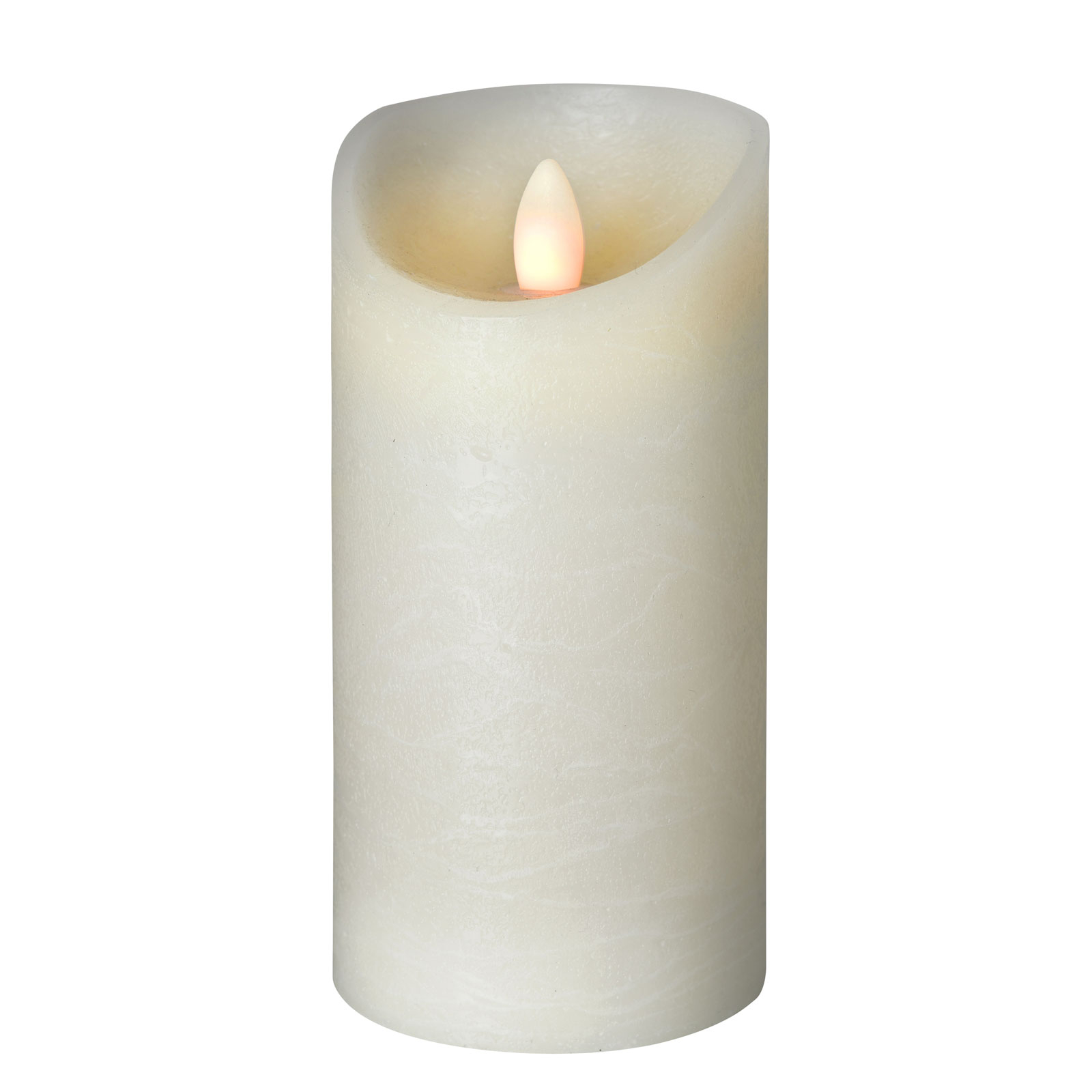 Shine LED-lys, Ø 7,5 cm, elfenben, højde 17,5 cm