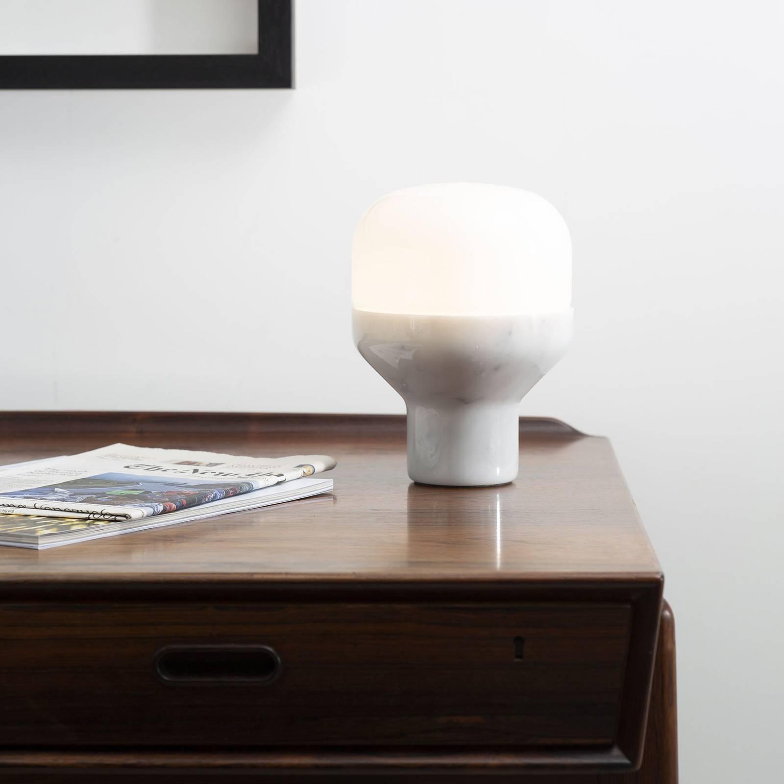 Martinelli Luce Delux tavolo 43cm marmo bianco