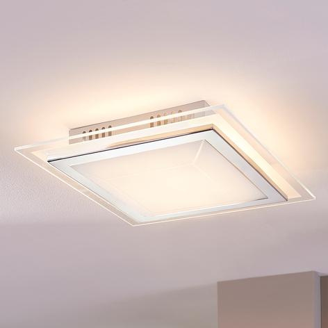 Obdélníkové skleněné stropní světlo Alessio s LED