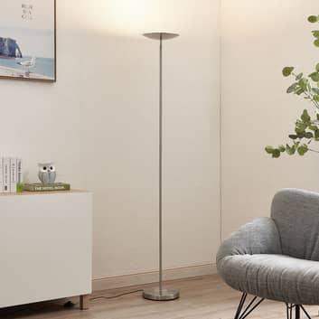 Lindby Heliani piantana LED, 1 luce, cromo
