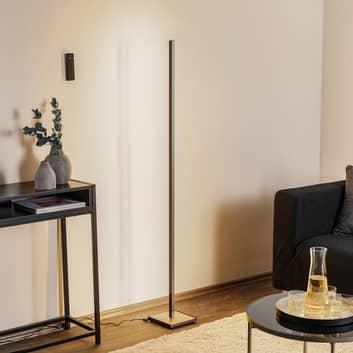 Zwarte LED vloerlamp Orix met afstandsbediening