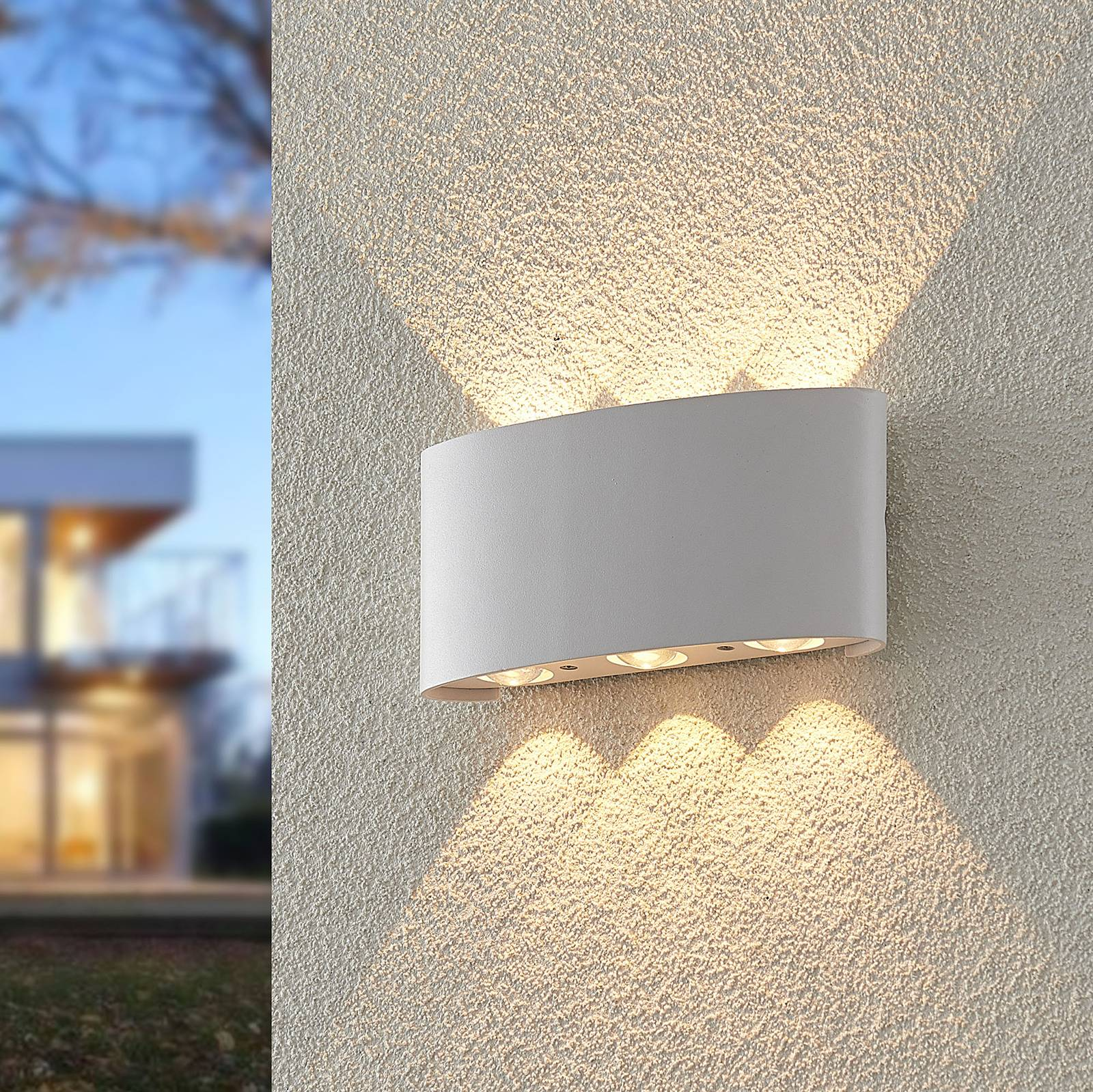 ELC Emirana LED-Außenwandleuchte, weiß