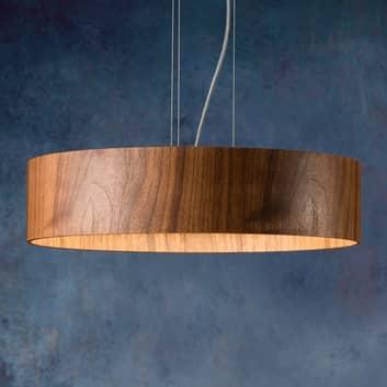 Notenhout hanglamp Lara Wood met LED's