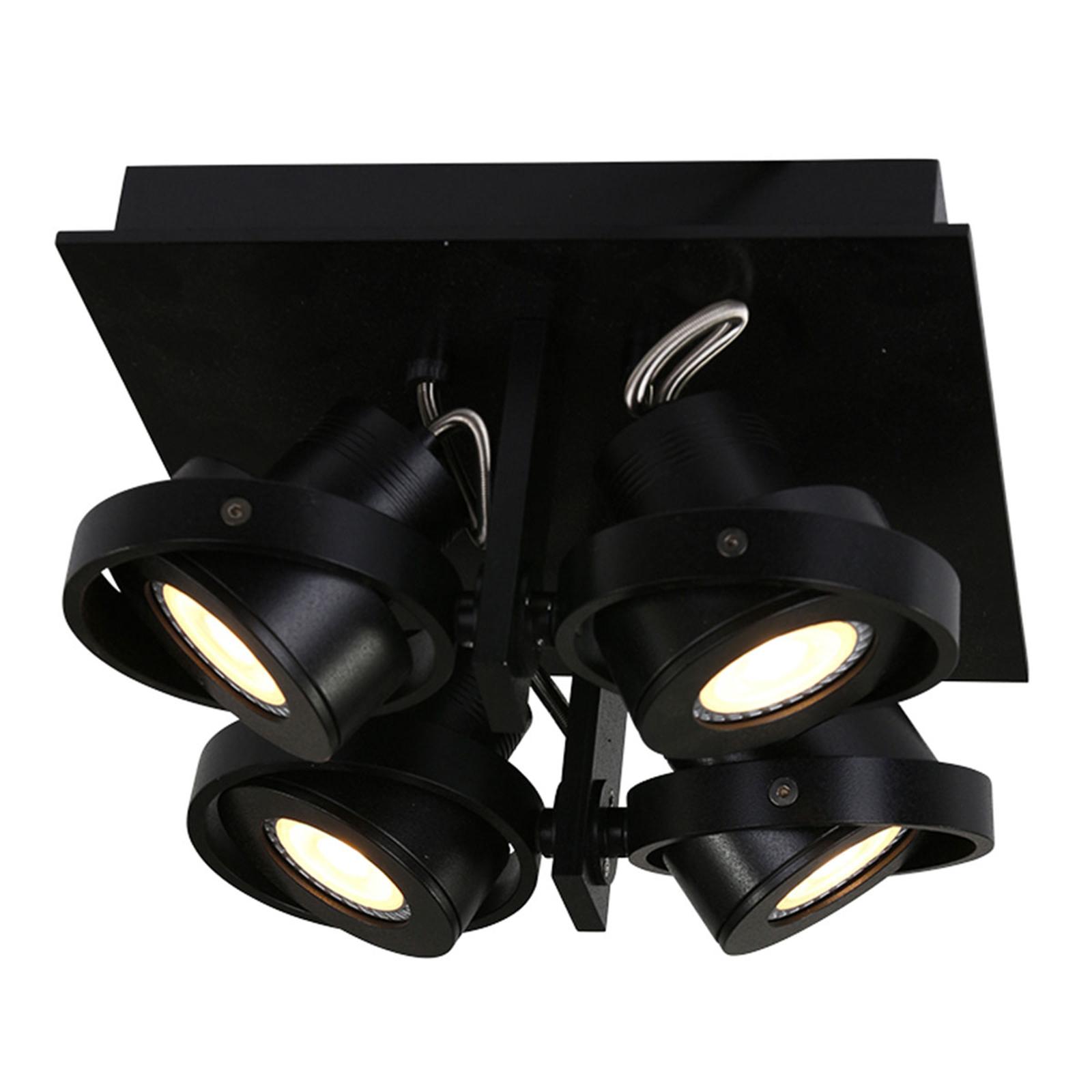 LED-takspot Westpoint 4 lyskilder svart
