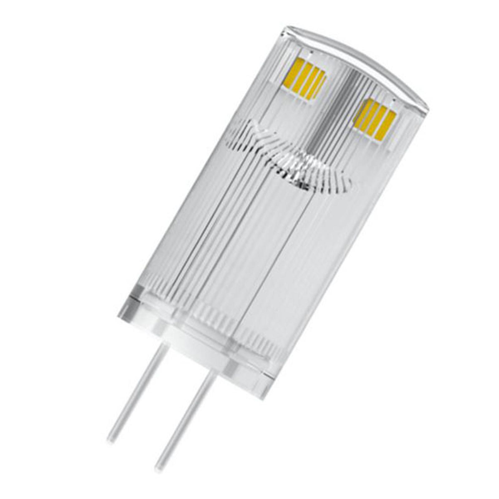 OSRAM LED-stiftpære G4 0,9 W 2700K klar 3-er