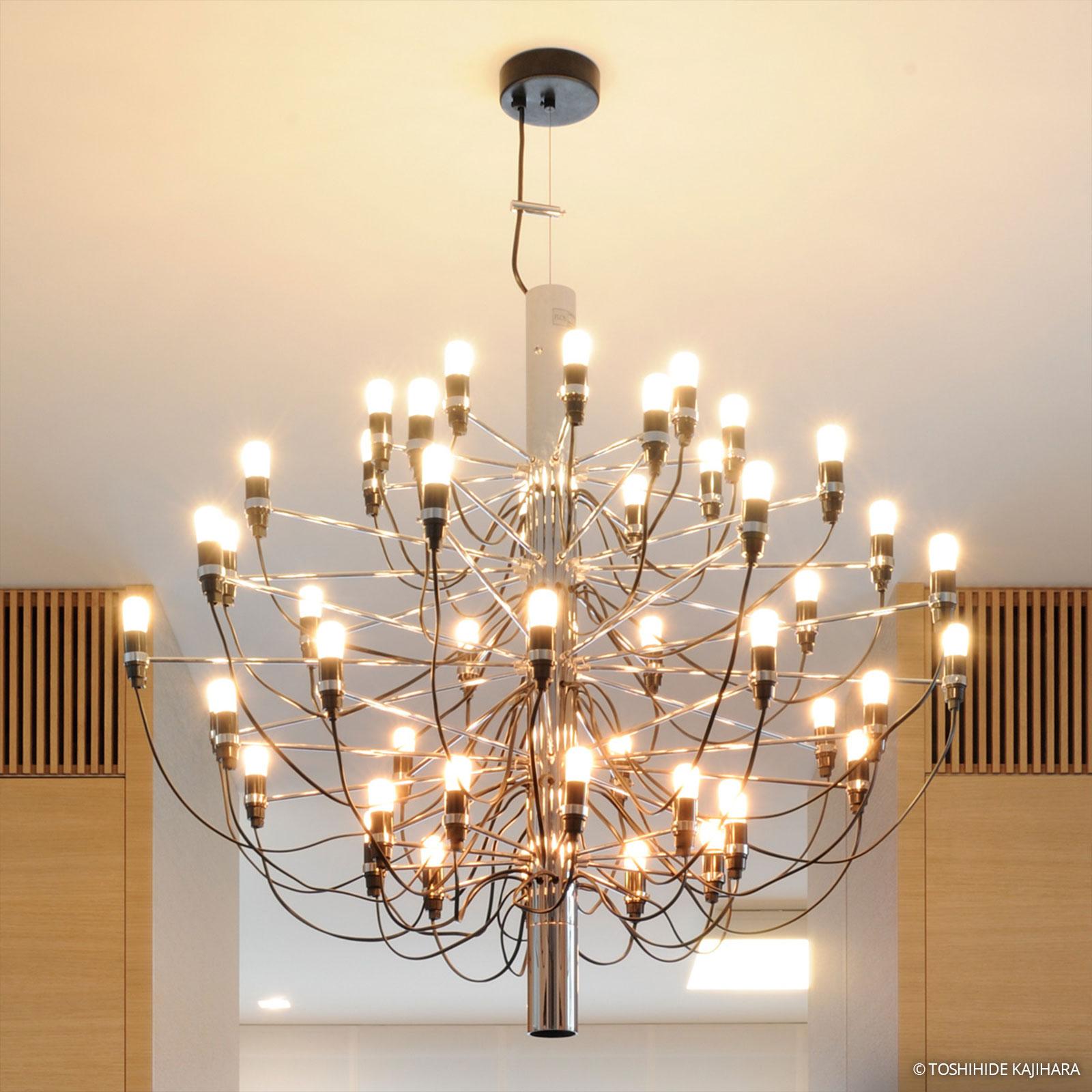 FLOS 2097/30 lustre à 30 lampes chromé frosted