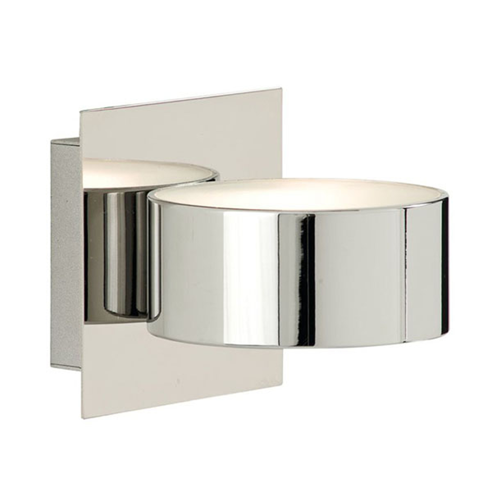 Wandlamp Wall 2691 in chroom met glazen diffusor