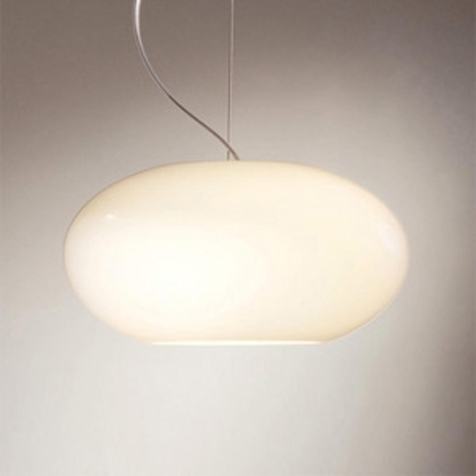 Lampa wisząca AIH 28 cm kremowa, błyszcząca