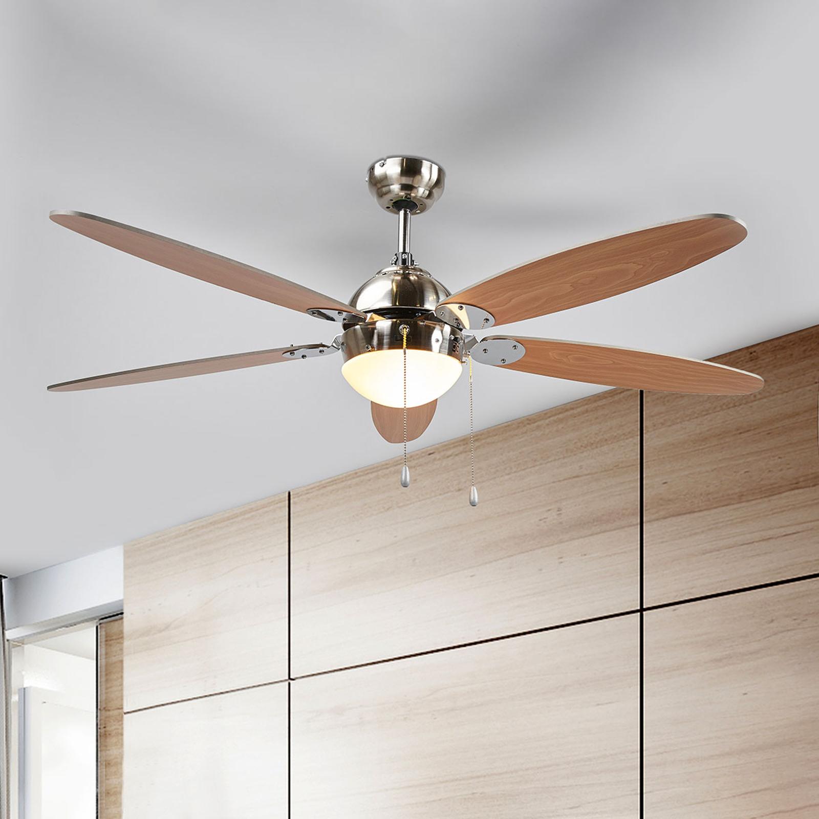 Osvětlený stropní ventilátor Levian