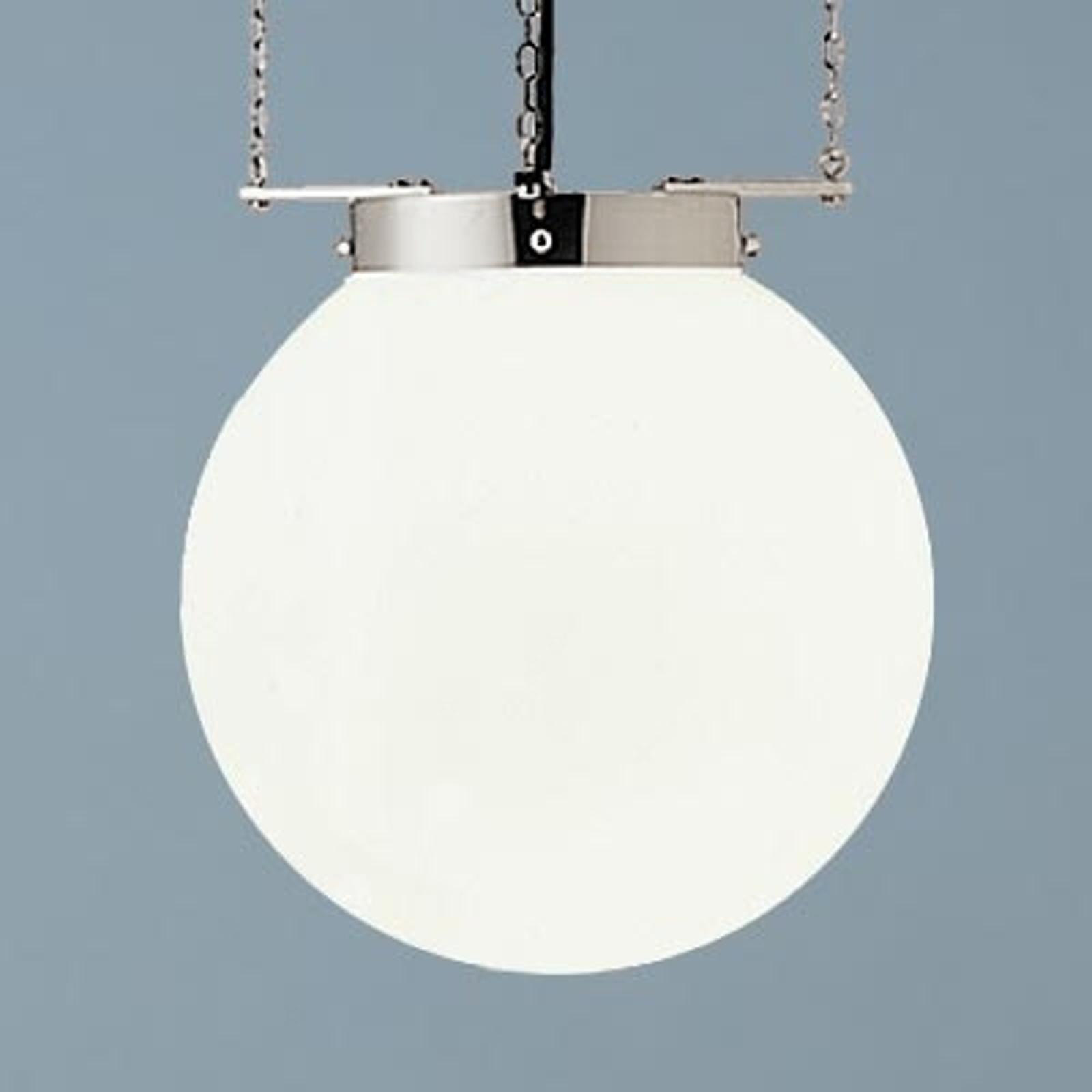 Lampa wisząca w stylu Bauhaus nikiel 40 cm