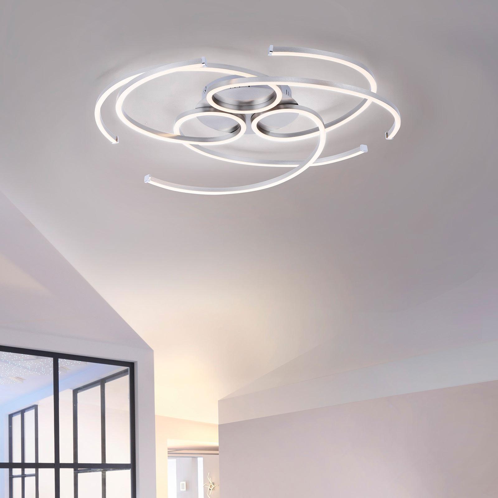LED-taklampa Danilo, dimbar via väggbrytare
