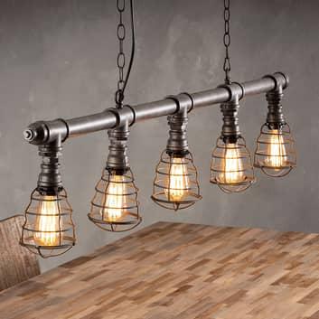 Ventilamp hængelampe, 5 lyskilder