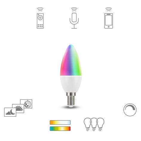 Müller Licht tint white+color LED E14 6W