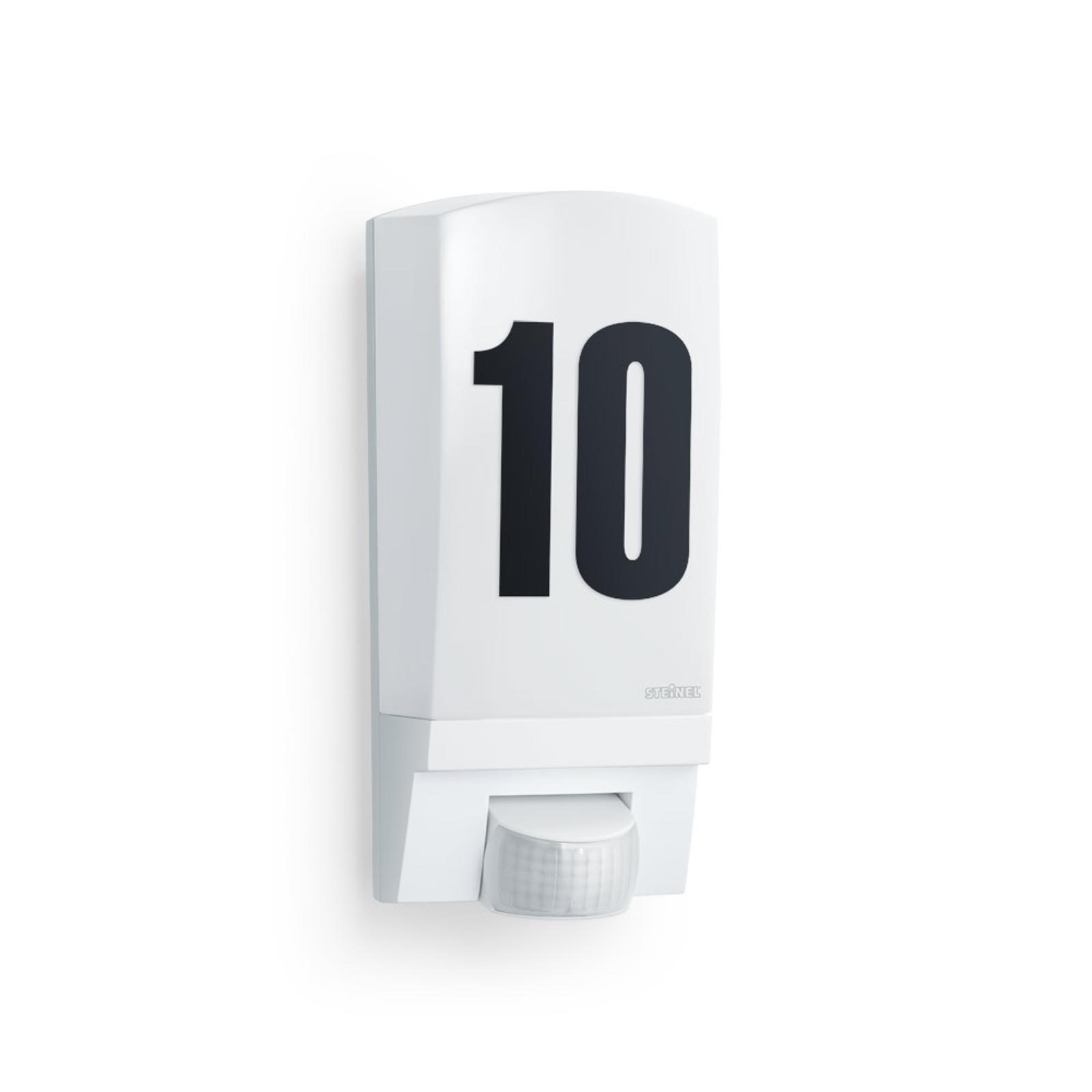 Hvit L 1 STEINEL sensor- og husnummerlampe