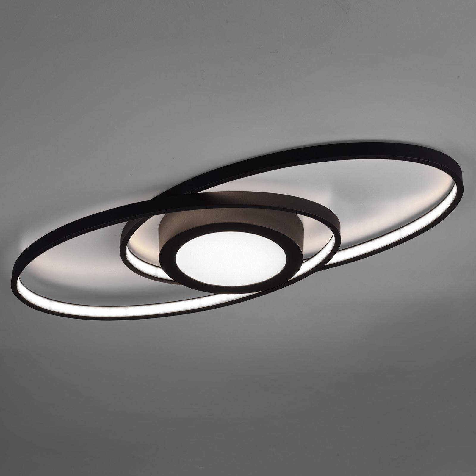 Lampa sufitowa LED Galaxy, ściemniana, antracyt