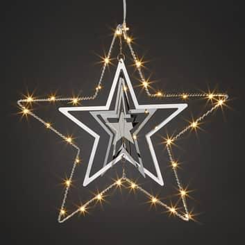 Trójwymiarowa metalowa gwiazda z LED
