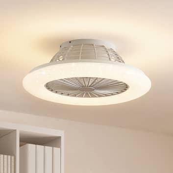 Lindby Taloni -LED-kattotuuletin valaistuksella