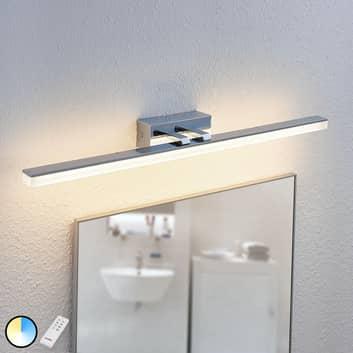 Lámpara de espejo LED Bernie, CCT, IP44, 75 cm