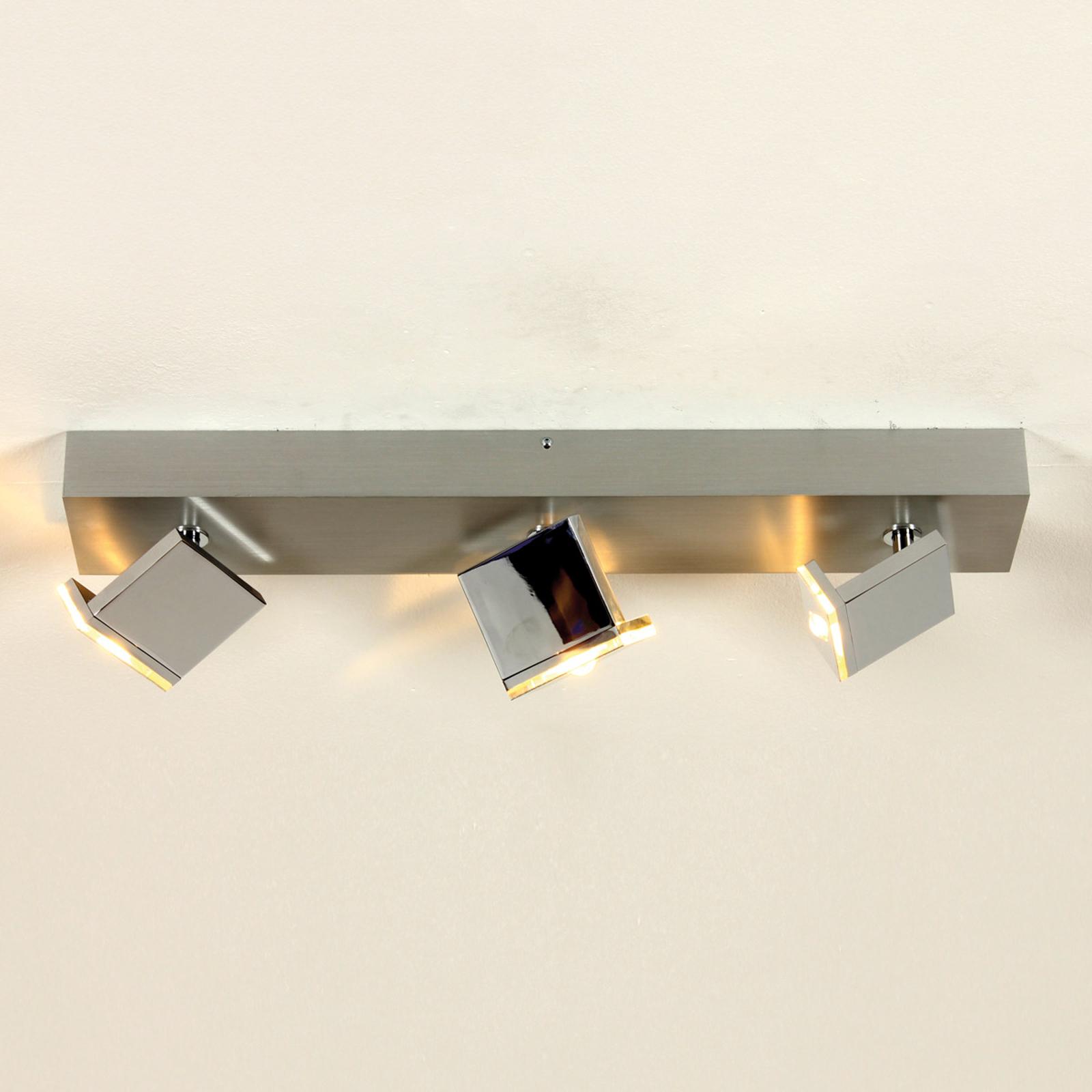 LED-taklampa Elle med tre ljuskällor, dimbar