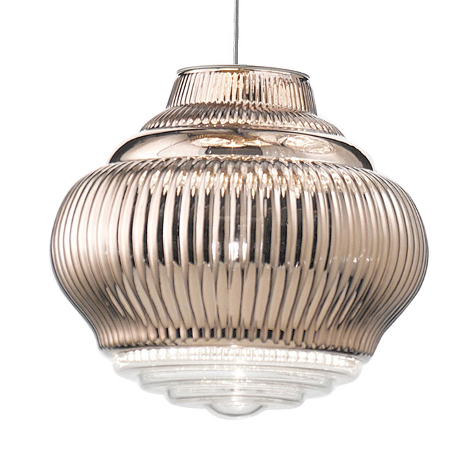 Lampa wisząca Bonnie 130 cm różowe złoto metallic