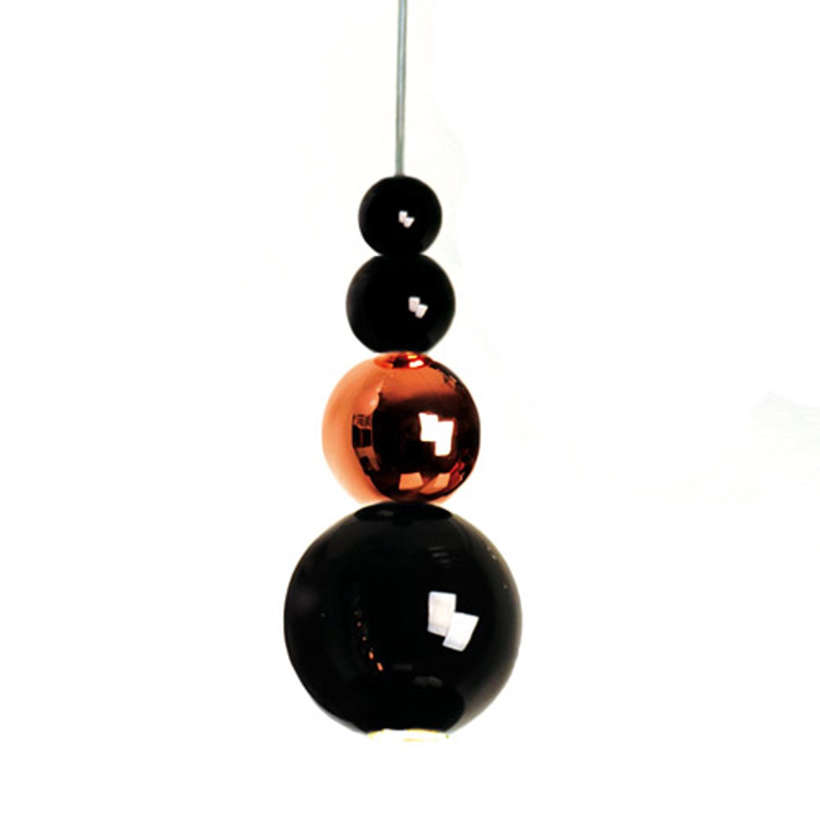 Innermost Bubble -hængelampe i sort-kobber