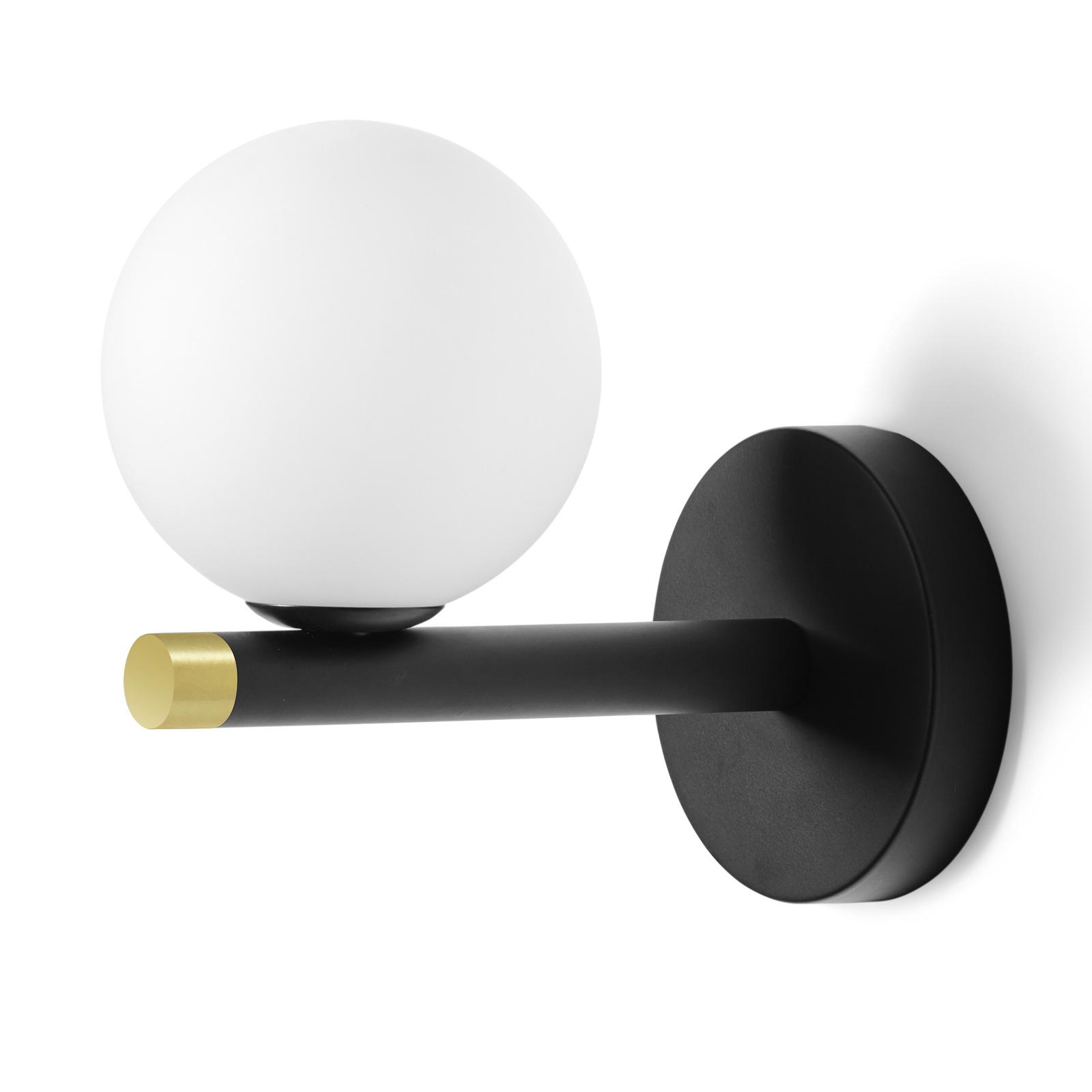 Applique Pomì avec sphère de verre blanc
