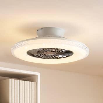 Lindby Ordanio -LED-kattotuuletin valolla