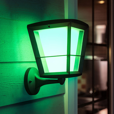 Philips Hue White+Color Econic vegglampe oppe