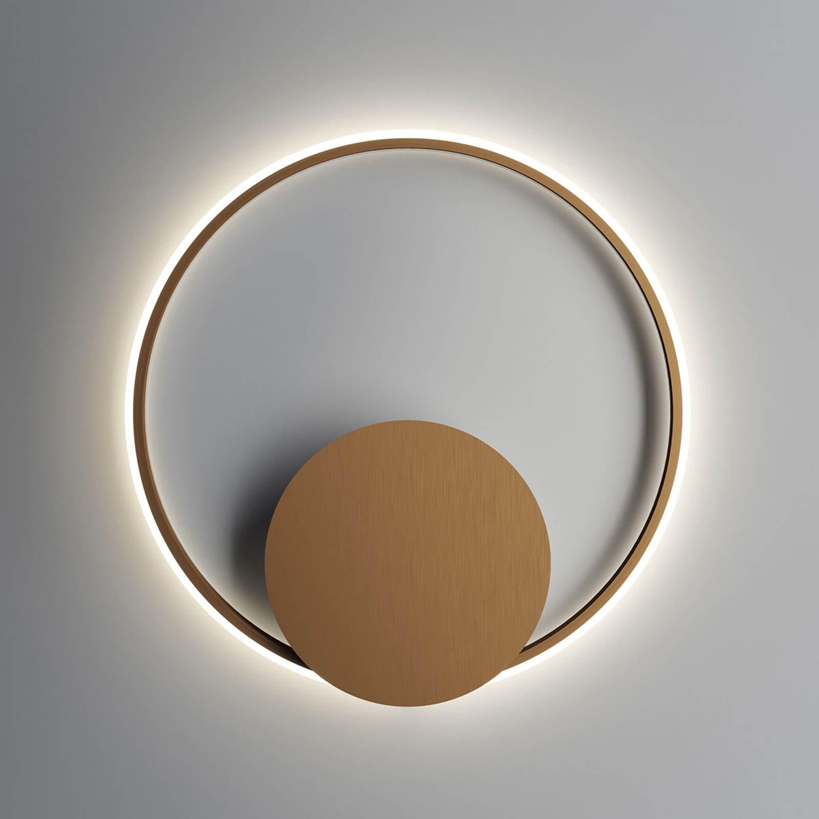 Fabbian Olympic LED-Wandleuchte Ø 60 cm bronze