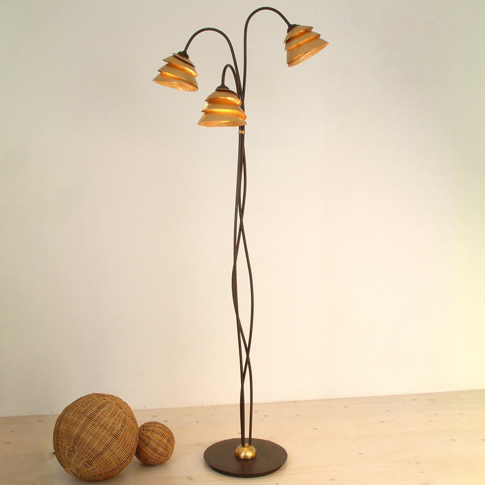 Imponująca lampa stojąca SNAIL 3-punktowa