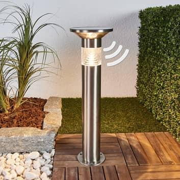Lampa cokołowa LED Jalisa, solarna, czujnik