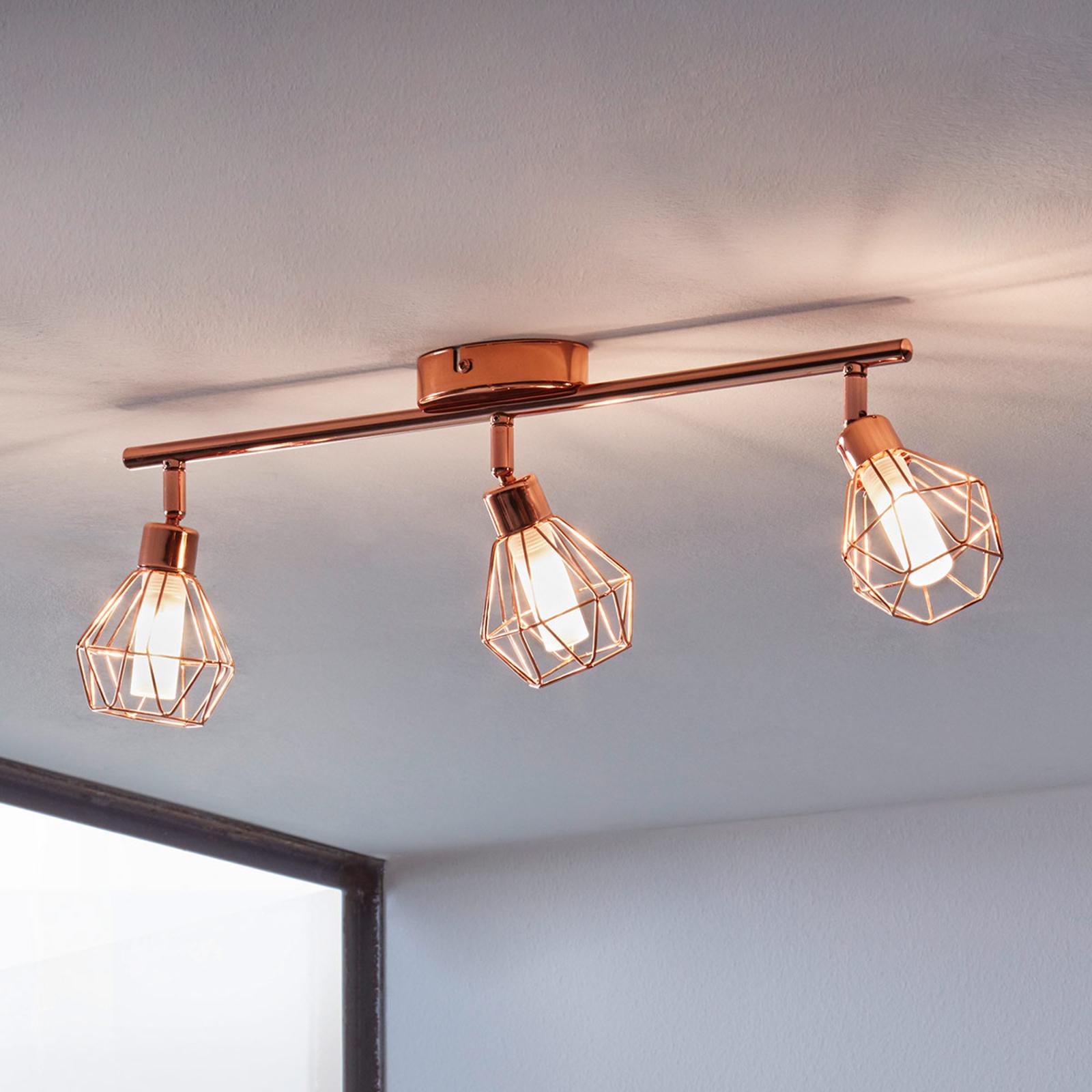 Lampa sufitowa LED Zapata, 3-punktowa