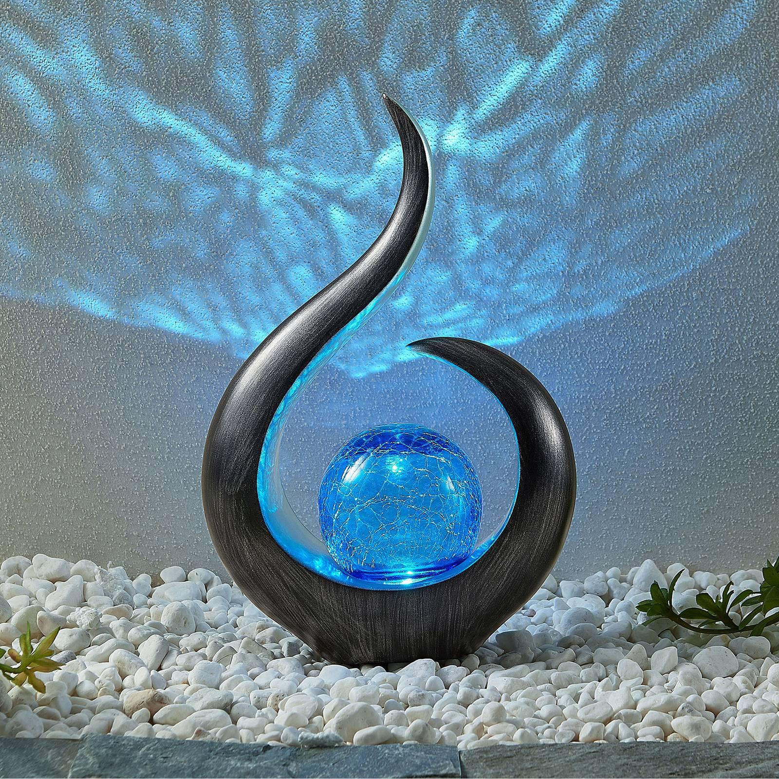 "*NEU*: LED-Deko-Leuchte ""Jassen"" aus Polyresin, solar"