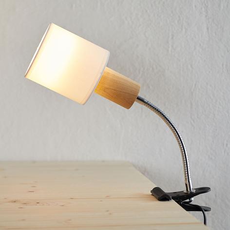 Lámpara de pinza Clamspots Flex con brazo móvil