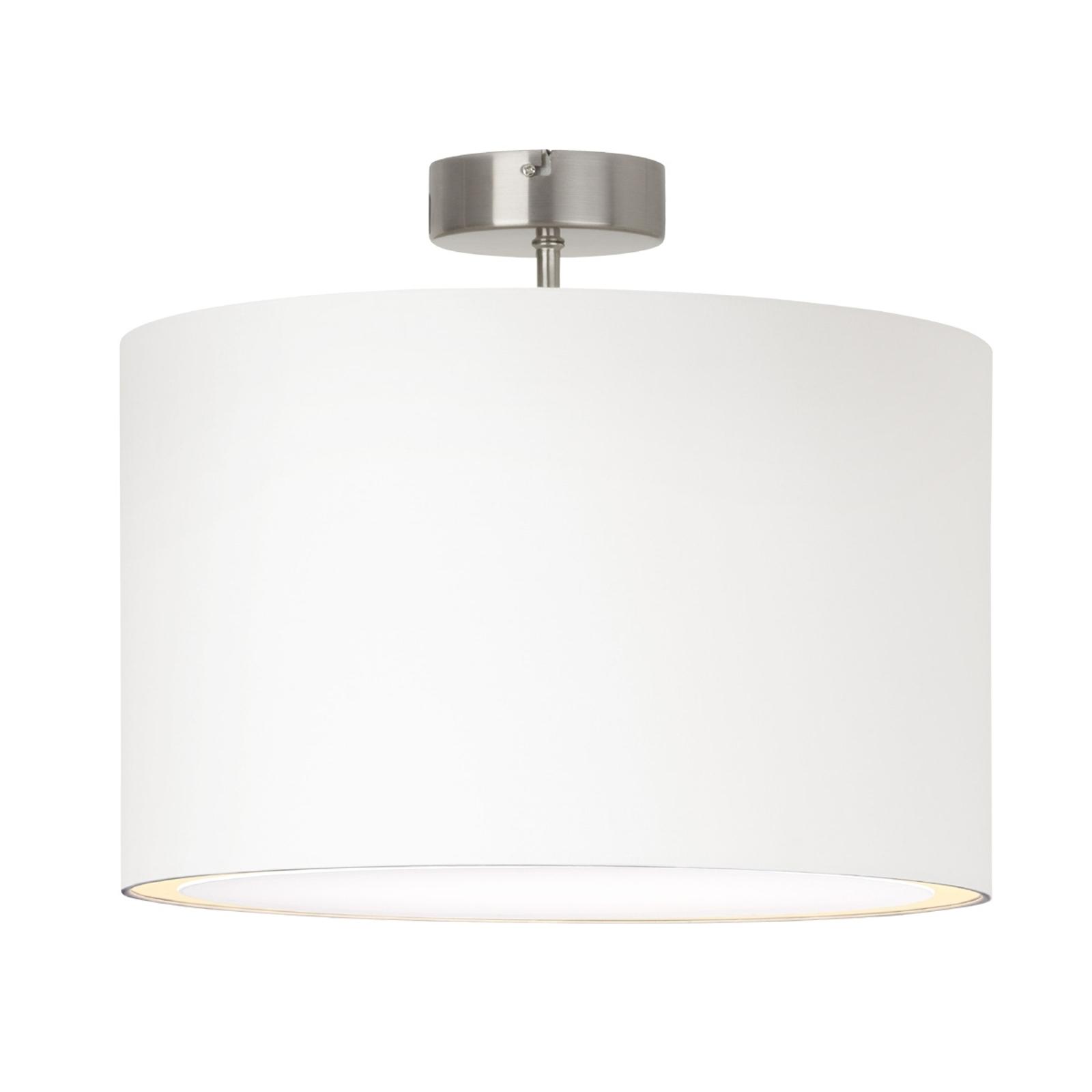 Enkel Clarie loftlampe i hvid