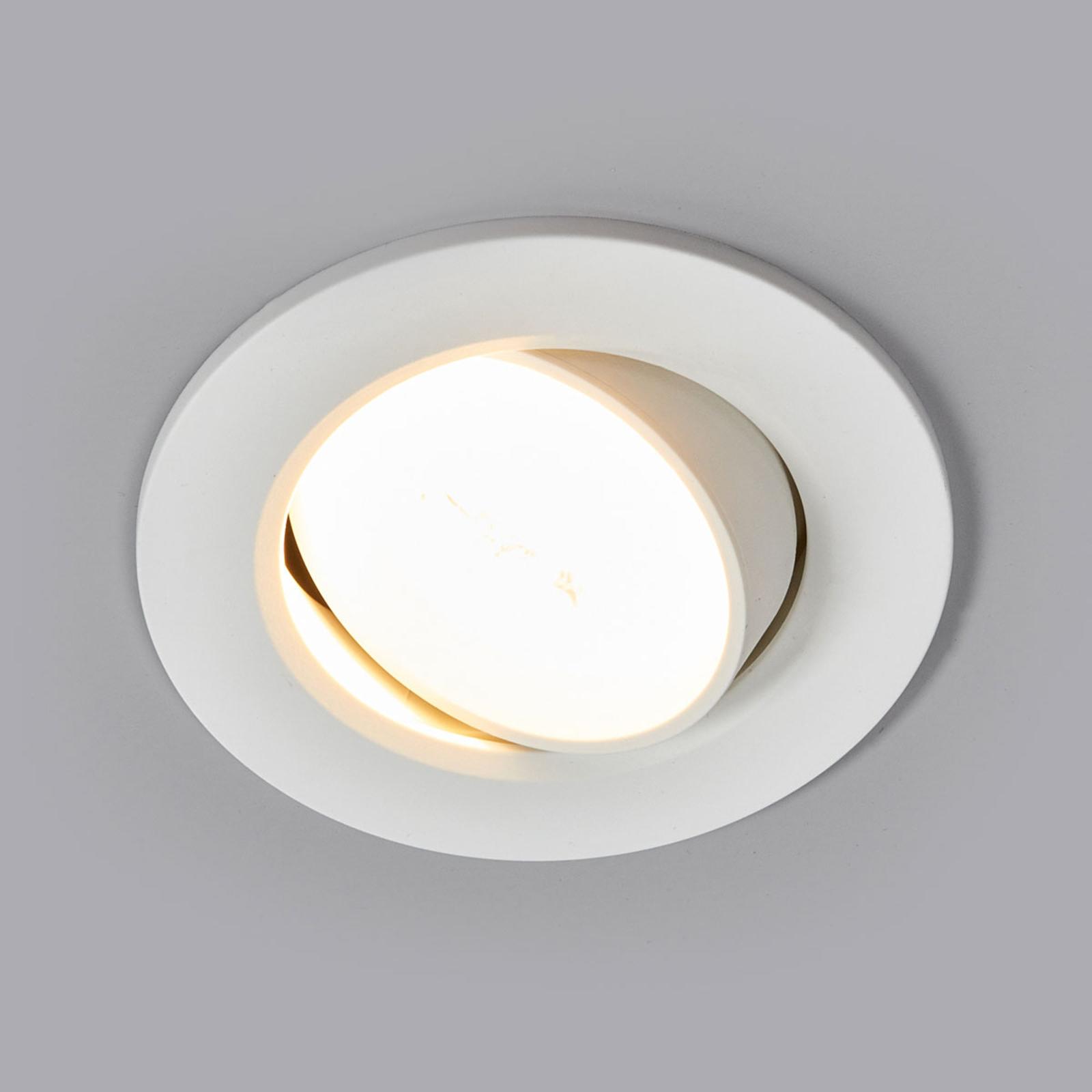 Lampe encastrable LED Quentin en blanc, 6 W