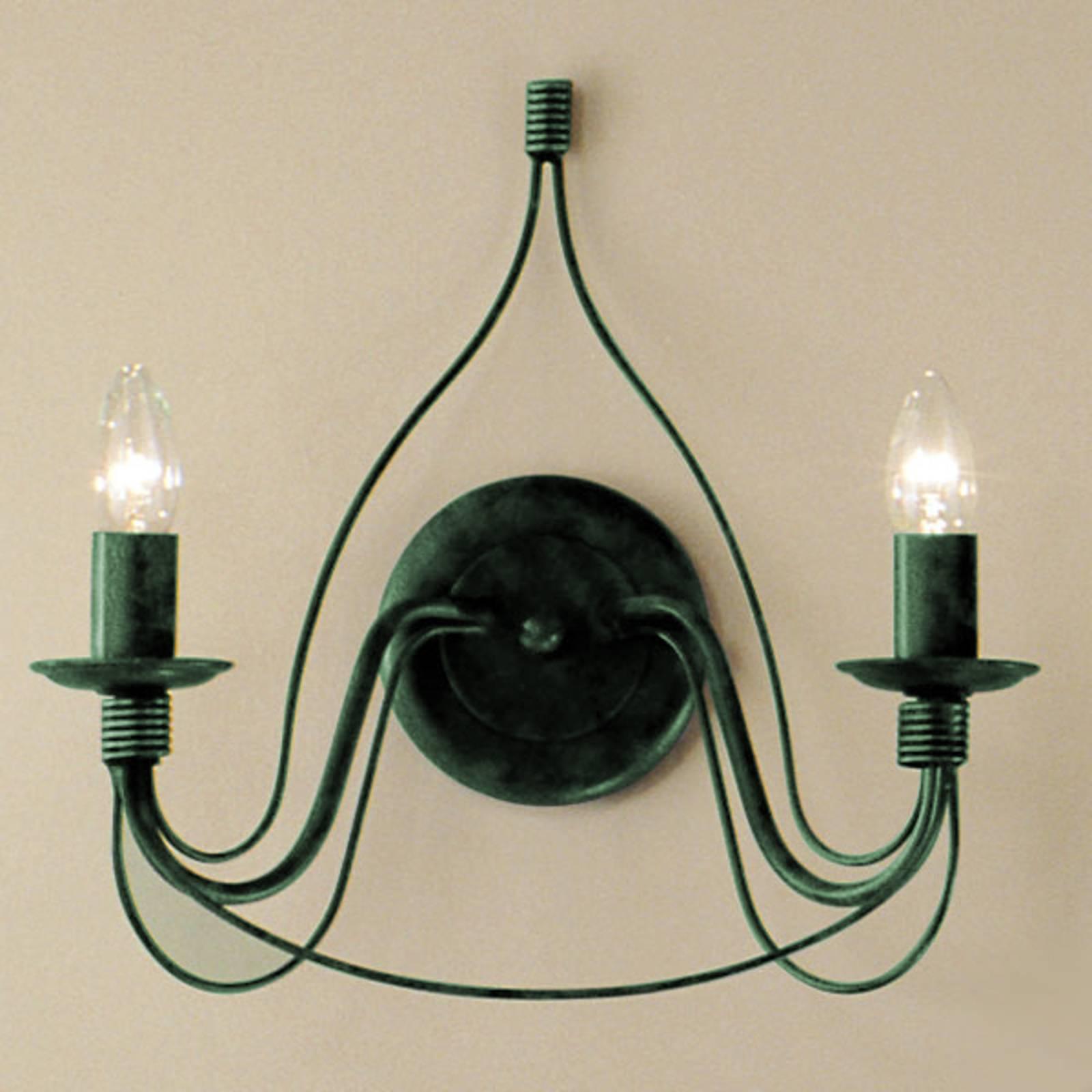 Wandlamp FILO, 2-lichts, groen-antiek