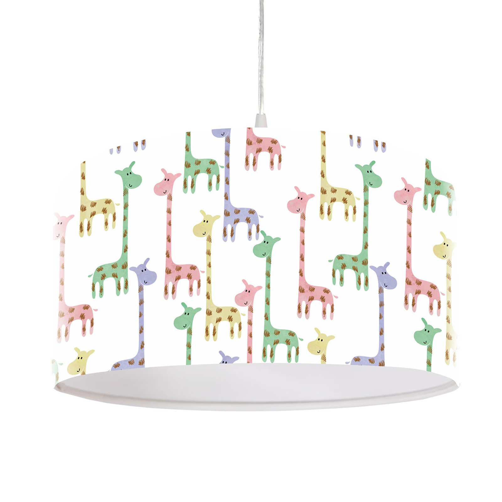 Lampa wisząca Żyrafa z kloszem z nadrukiem Ø 40cm