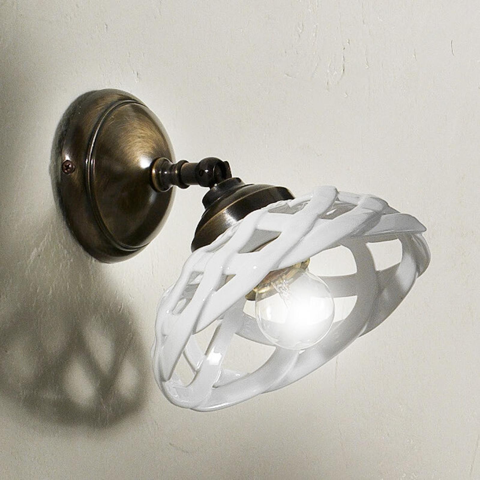 Emanuel – subtelna ceramiczna lampa ścienna