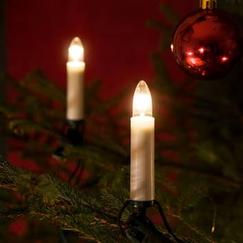 Lyskæde t. træ, kertelys - til ude brug,25 lys
