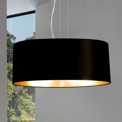 Textil-Hängeleuchte Lecio, 53 cm, schwarz
